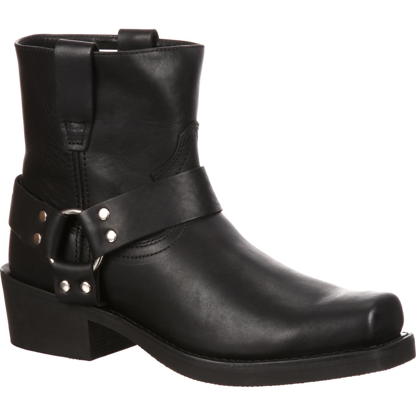 Durango Boots #DB710 - Men's Black Leather Harness Boots