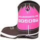 Durango Pink Ribbon Boot Koozie, , small