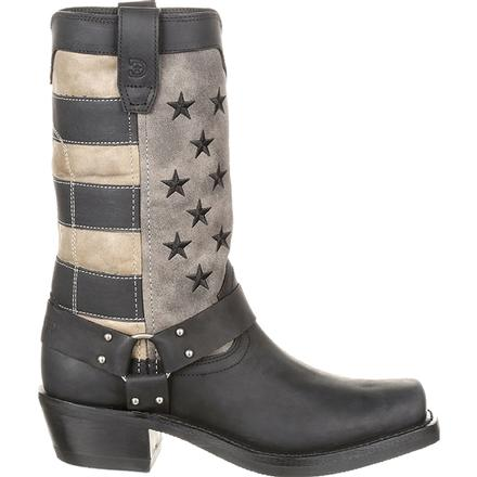 Durango® Women's Black Faded Flag Harness Boot, , large