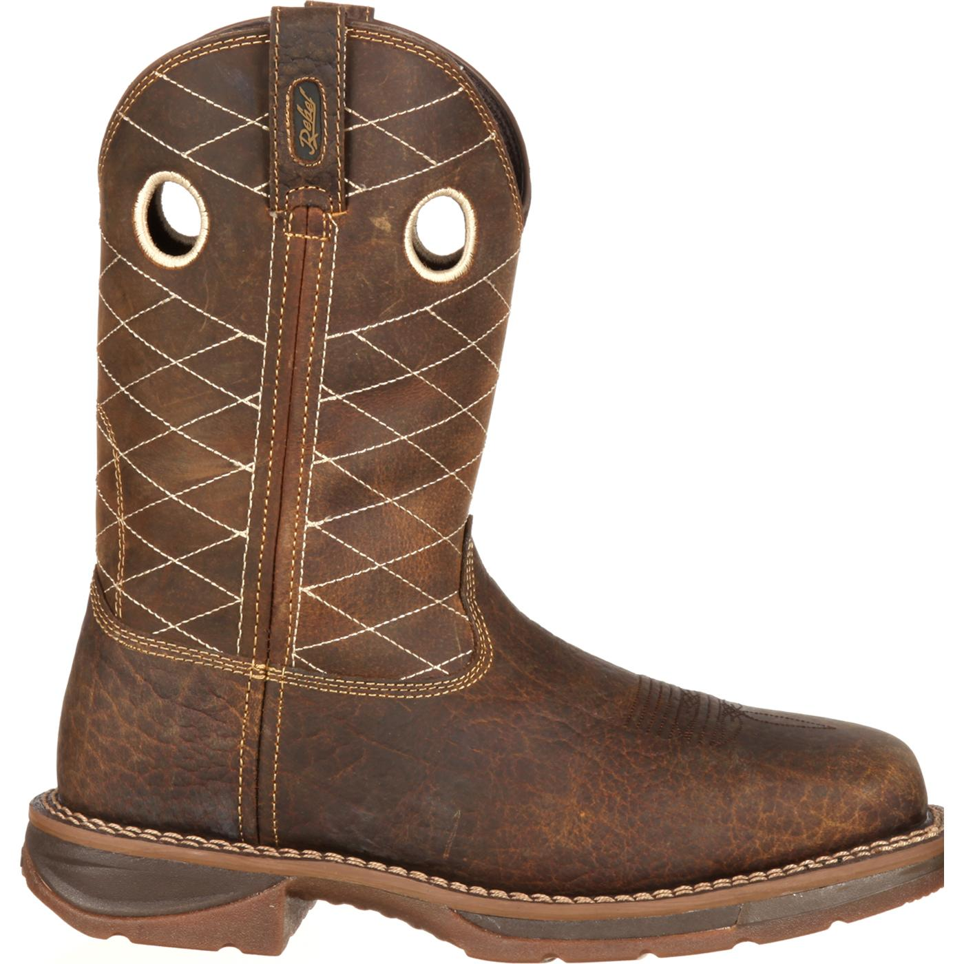 workin rebel by durango brown composite toe western work