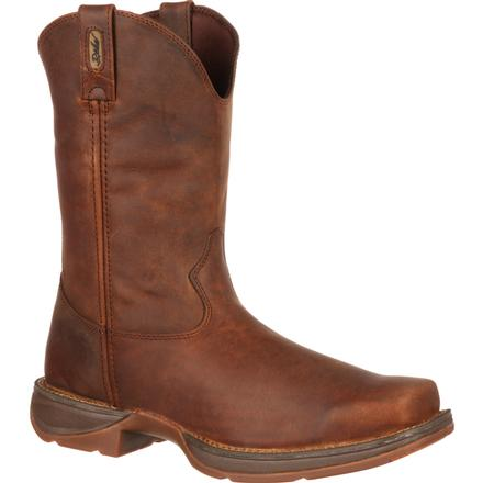 Rebel by Durango Brown Pull-On Western Boot, , large