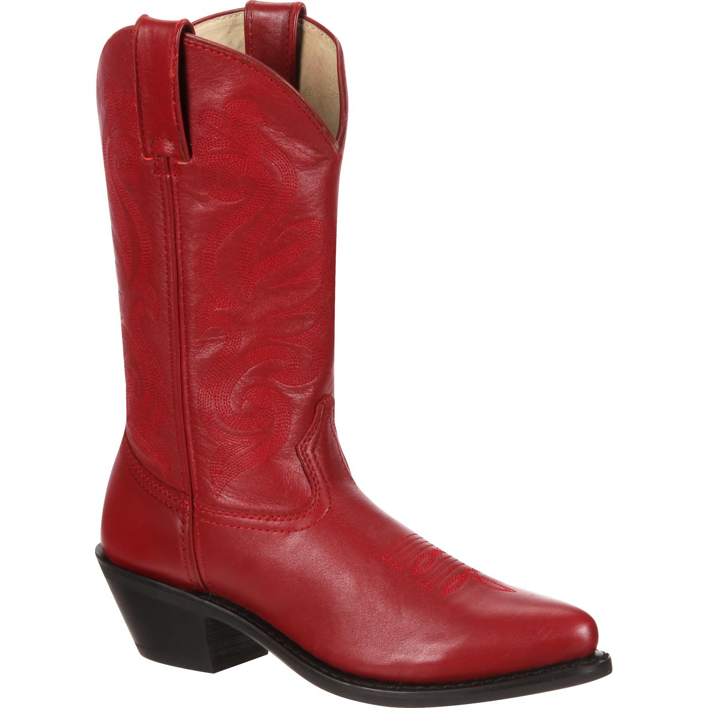 Durango: Women's Red Leather Western Boot, style #RD4105