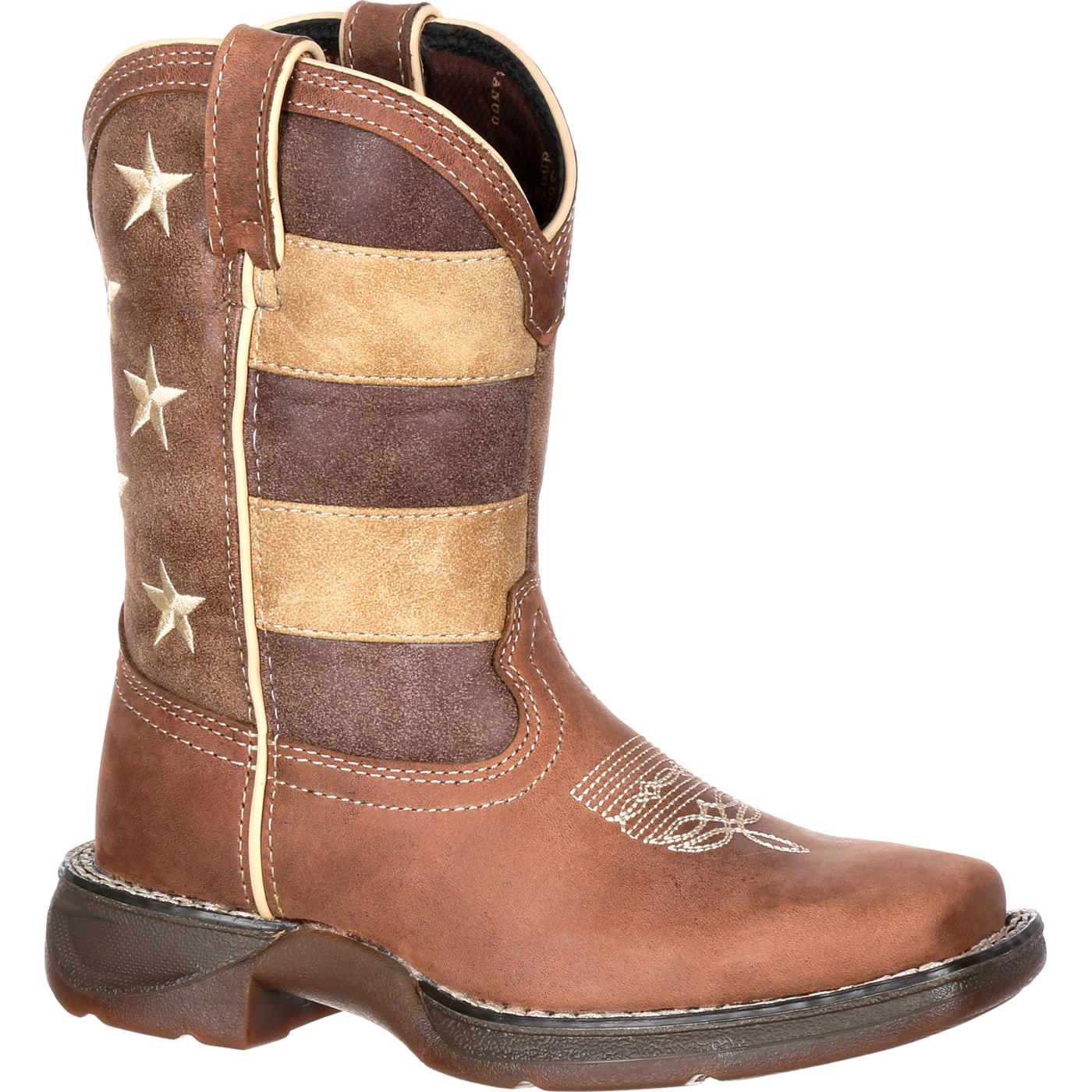 Lil' Rebel by Durango Little Kids' Faded Glory Flag Western Boot. »