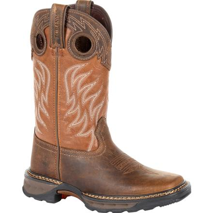 Lil' Durango Maverick XP Big Kids Brown Western Work Boot, , large