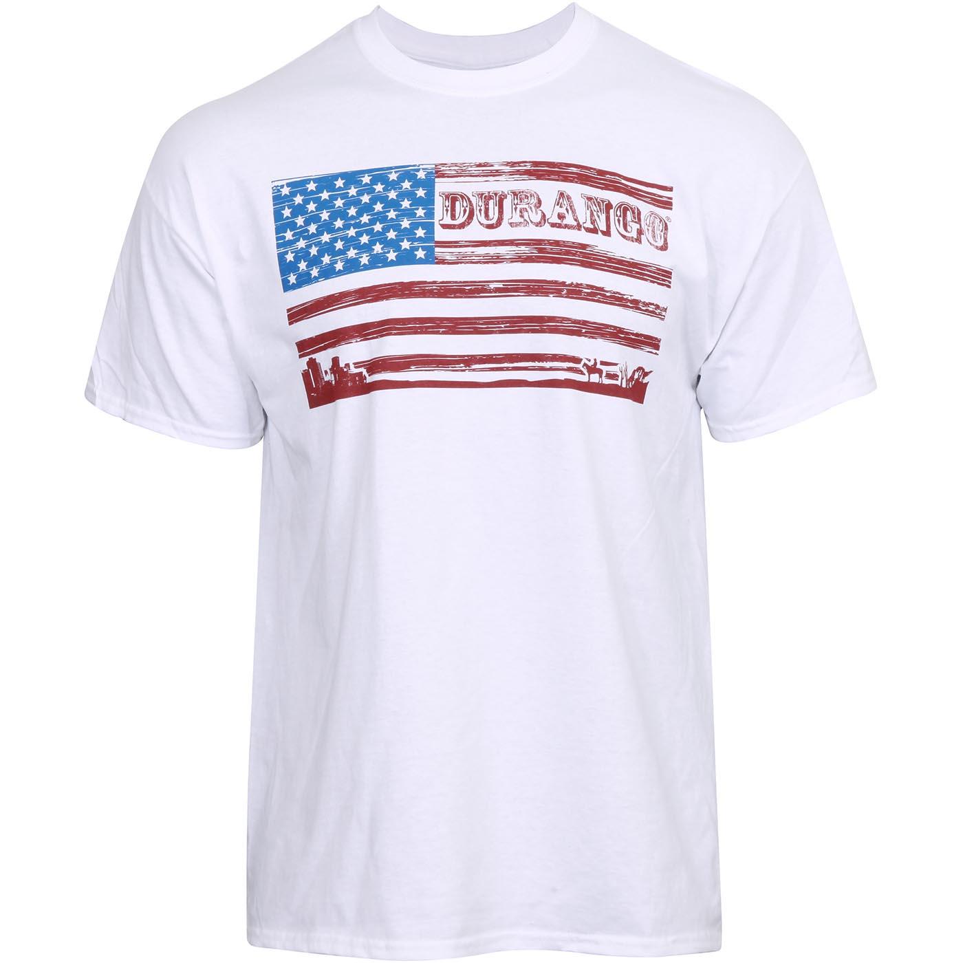 Durango Boot Kids Stylized American Flag White T Shirt