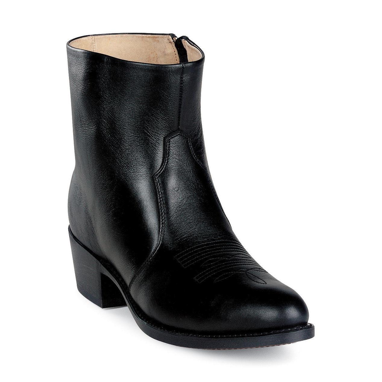 durango boots s black leather side zip western boots
