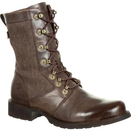 Durango Drifter Women's Brown Military Inspired Lacer Boot, , large