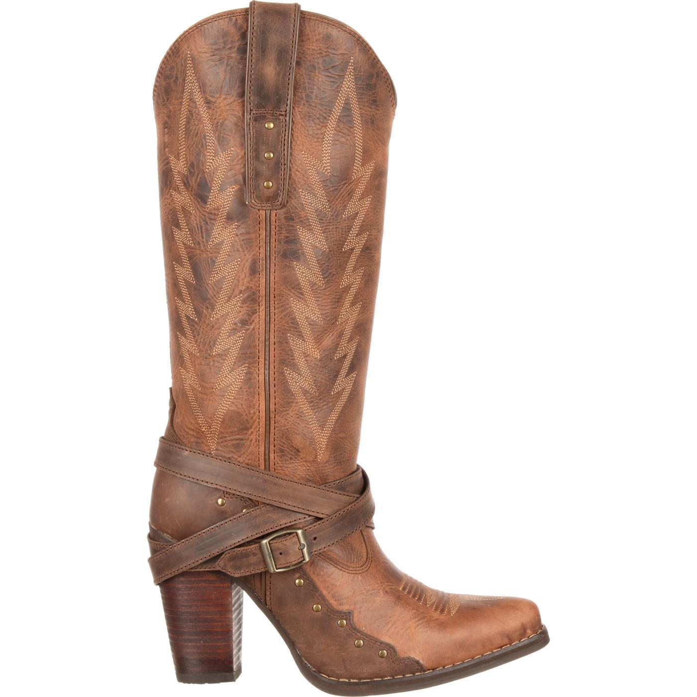 Women's Boot High City Aubrey Cowgirl Buckle Heel Durango TlKF31cJ