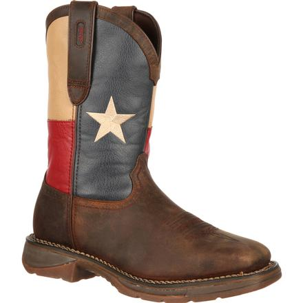 Rebel by Durango Steel Toe Texas Flag Western Boot, , large