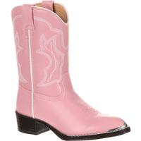 Durango Toddler Dusty Pink & Chrome Western Boot, , medium