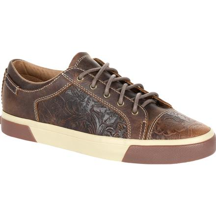 Durango Music City Women's Western Embossed Lace-up Sneaker, , large