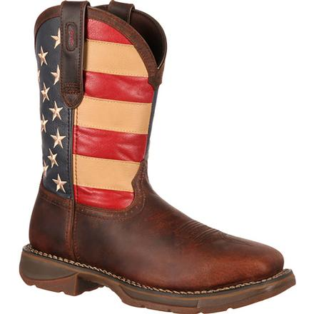 Rebel by Durango Steel Toe Flag Western Flag Boot, , large