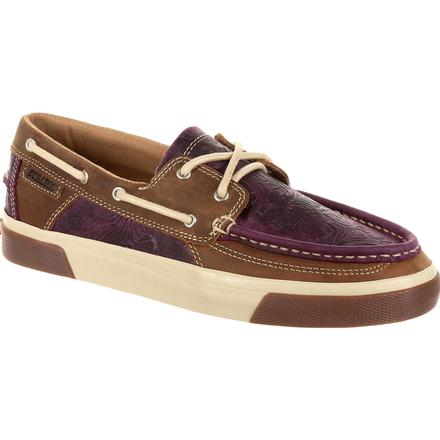 Durango Music City Women's Plum Boat Moc, , large