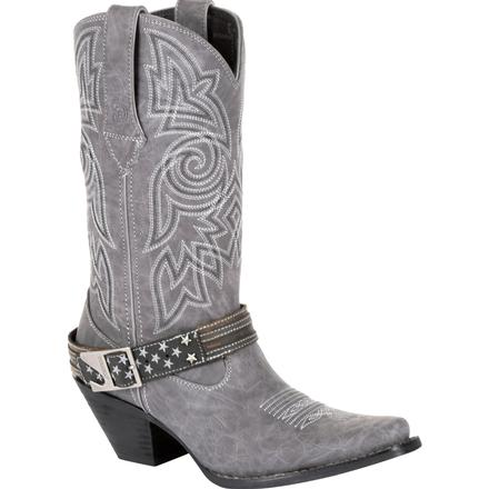 Crush by Durango Women's Graphite Flag Accessory Western Boot, , large