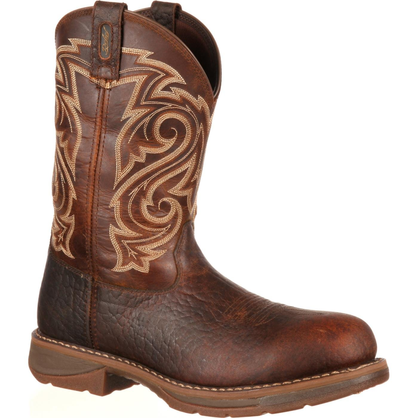 Workin' Rebel by Durango Brown Composite Toe Boot, , large