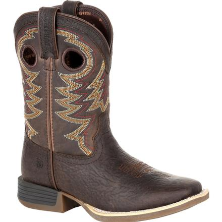 Durango® Lil' Rebel Pro™ Big Kid's Brown Western Boot, , large