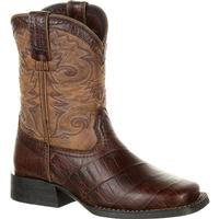 Lil' Durango Mustang Big Kids' Faux Gator Western Boot, , medium