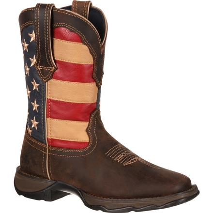 Lady Rebel by Durango Patriotic Women's Pull-On Western Flag Boot, , large