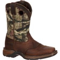 Lil' Durango Big Kid Camo Saddle Western Boot, , medium