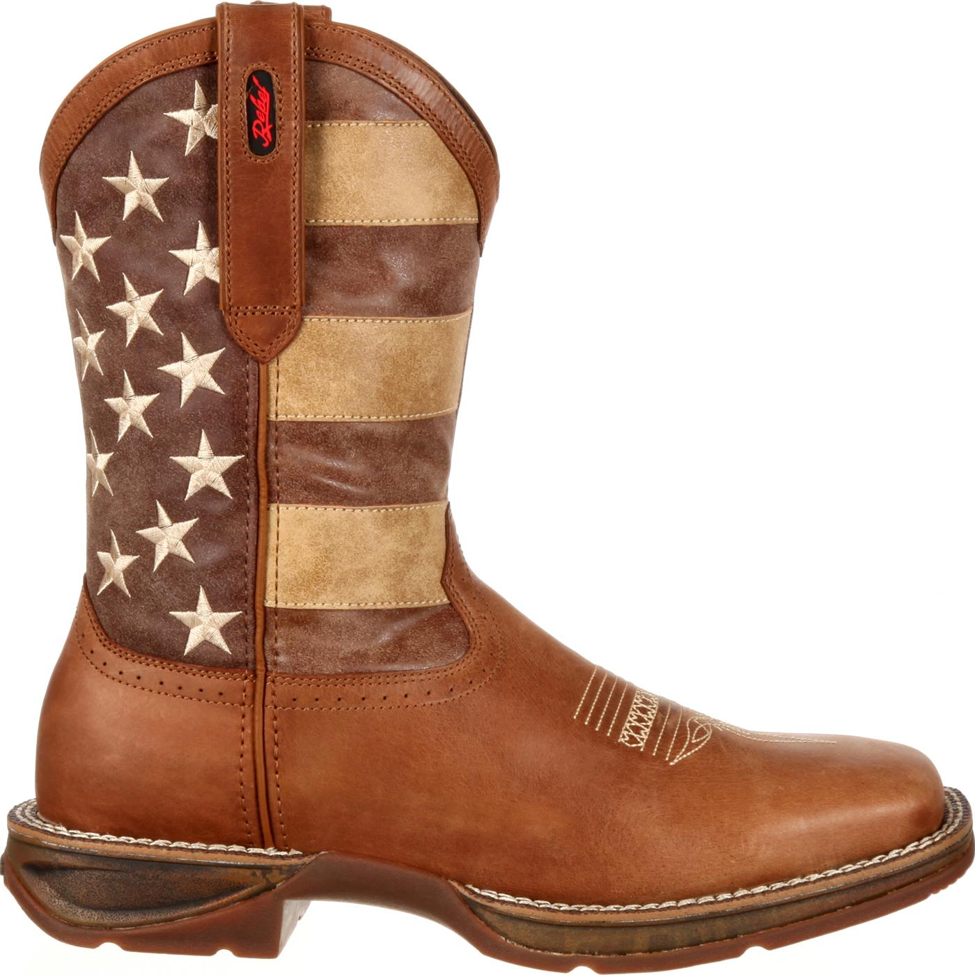 Rebel By Durango Faded Union Flag Boot Western Flag Boot