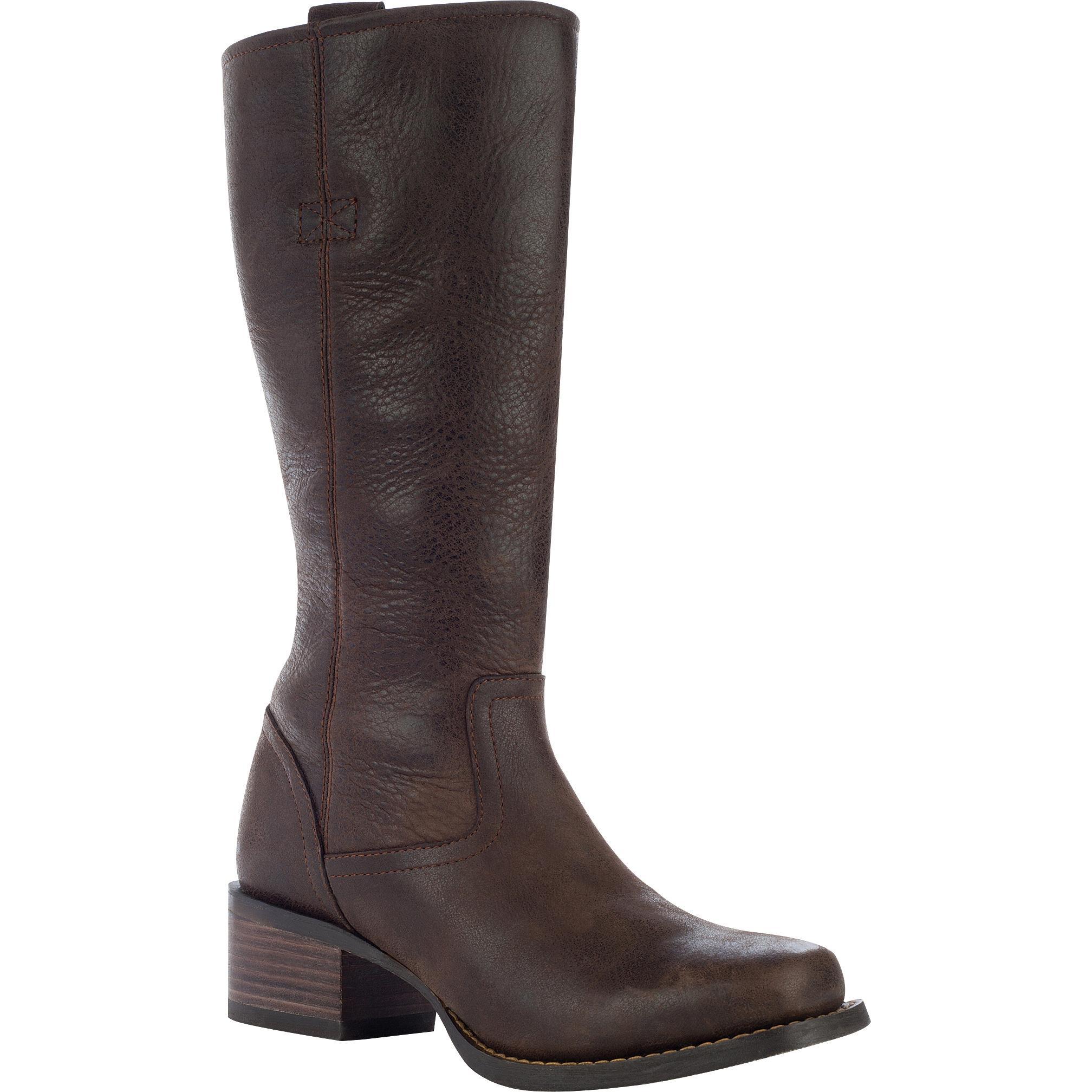 a69e0e378 Durango City: Women's Tall Brown Leather Side Zip Boots