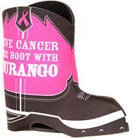 Durango Pink Ribbon Boot Koozie, , medium