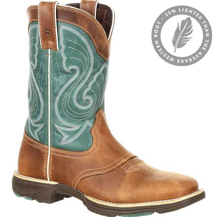 Durango UltraLite Women's Emerald Saddle Western Boot, , large