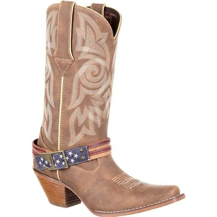 Crush by Durango Women's Flag Accessory Western Boot, , large