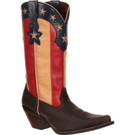 Crush by Durango Women's Stars and Stripes Flag Boot, , large