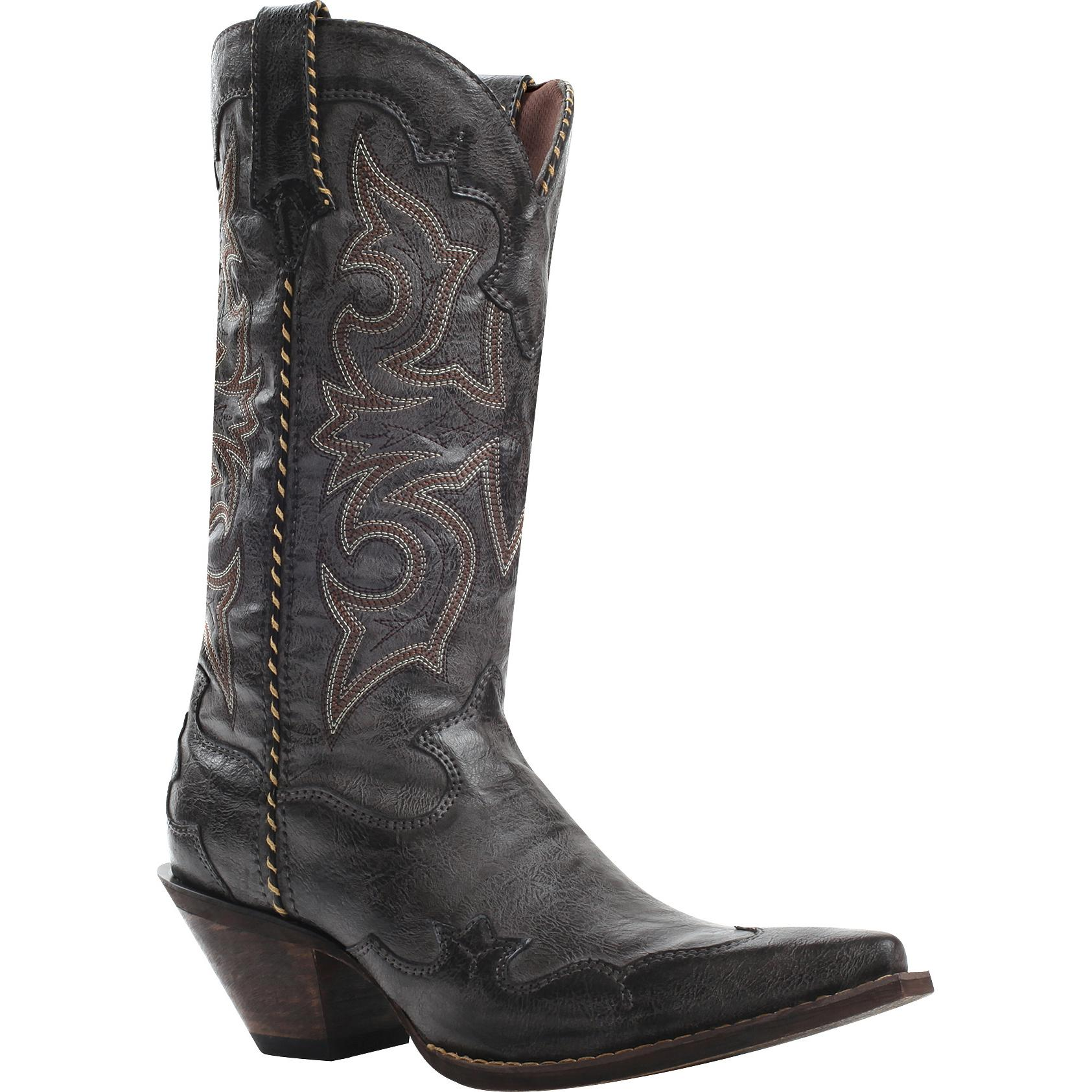 Crush by Durango Women's Rock 'n' Scroll Black Western Boot