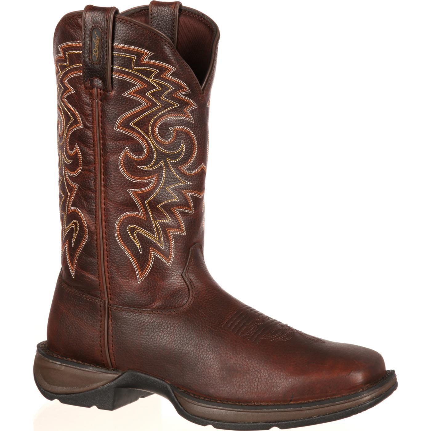 Rebel by Durango Dark Brown Pull-On Western Boot, , large