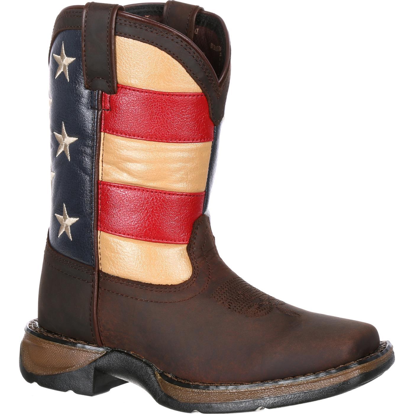 70477f626ff Lil' Rebel by Durango Big Kids' Flag Western Boot