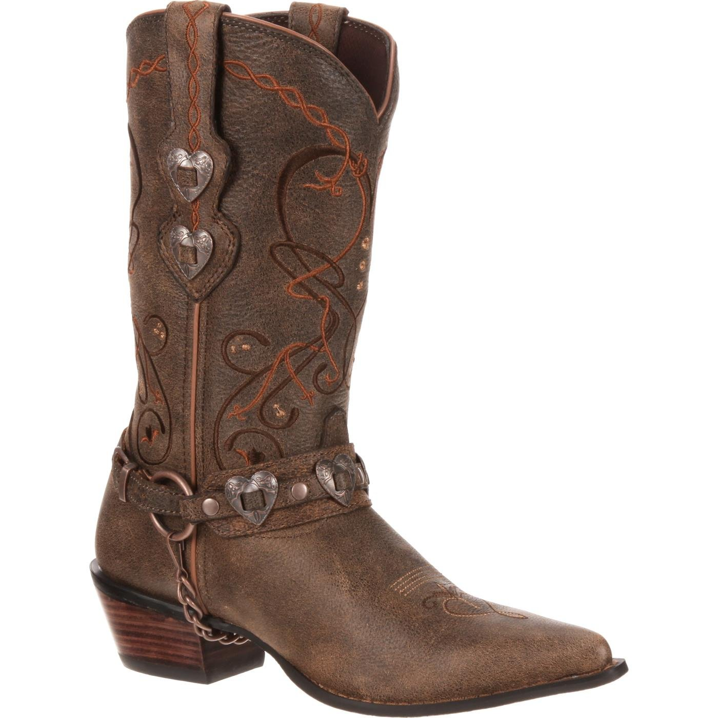 Simple Crush By Durango Womenu0026#39;s Pin-Up Dark Brown Western Boots
