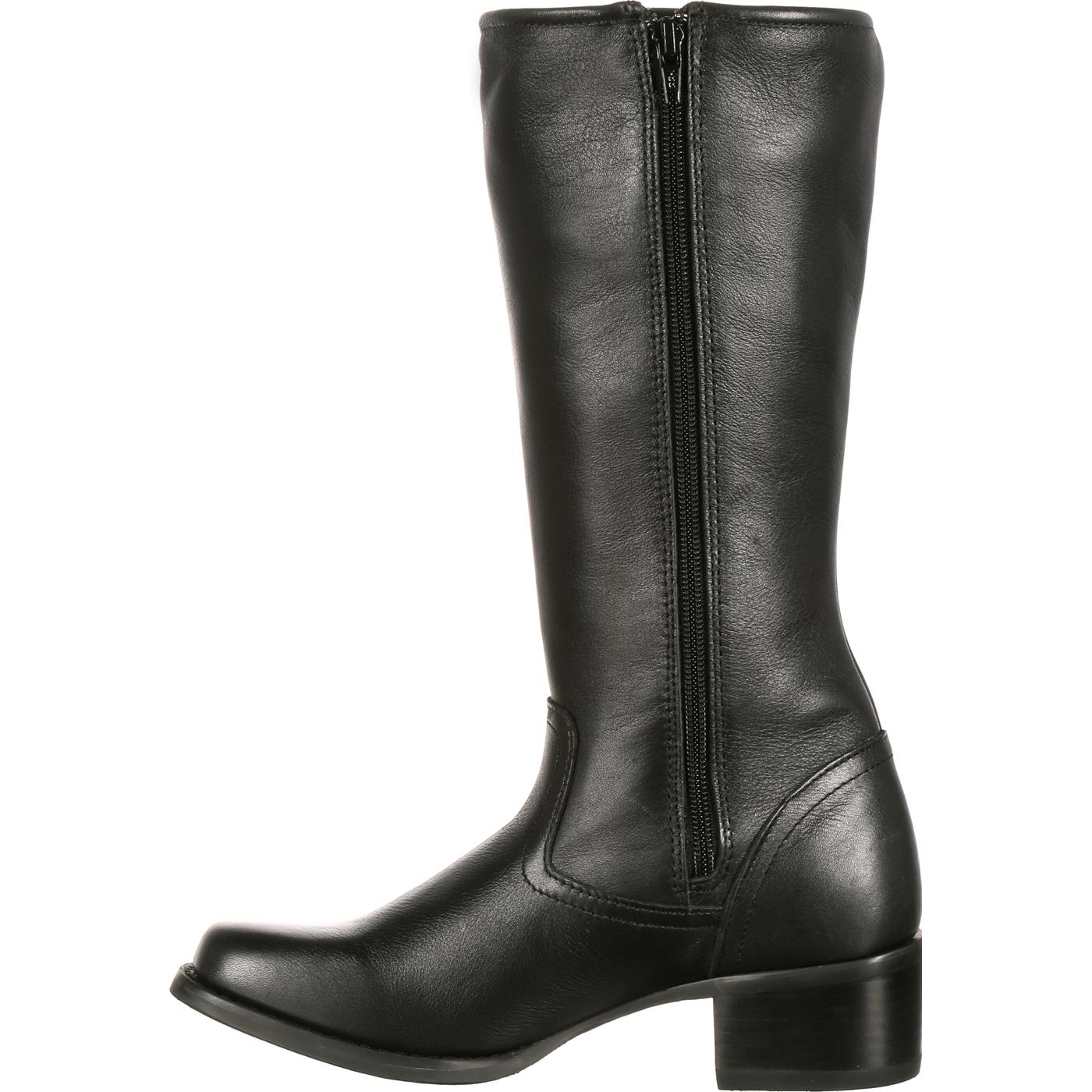 f4eb07697 Durango City: Women's Tall Black Leather Side Zip Boots