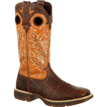 Lady Rebel by Durango Women's Faux Exotic Western Boot, , large