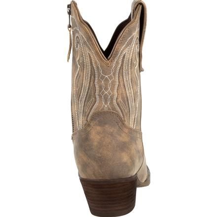 Crush™ by Durango® Women's Distressed Shortie Western Boot, , large