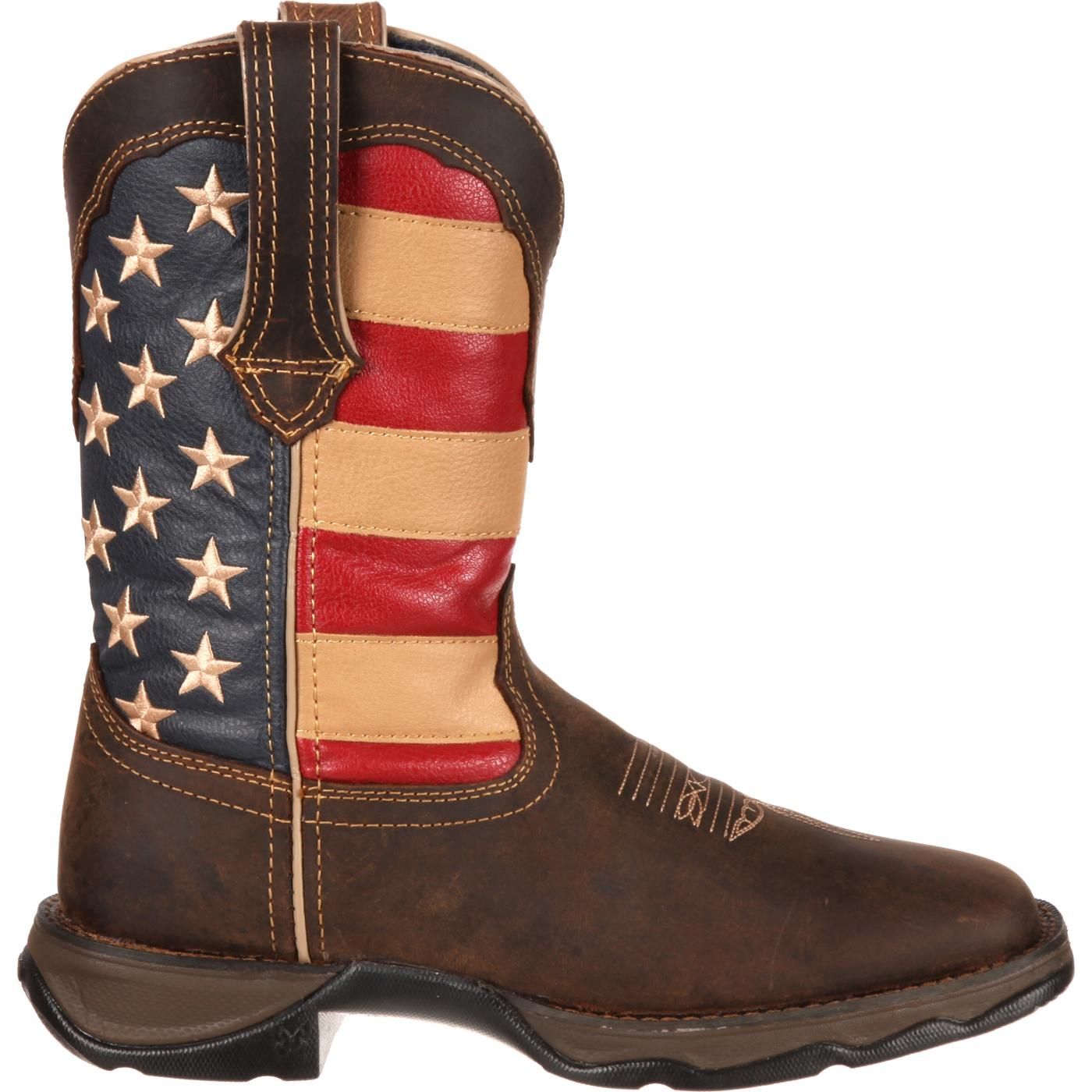 Patriotic Pull-On Western Flag Boot - Lady Rebel by Durango ...