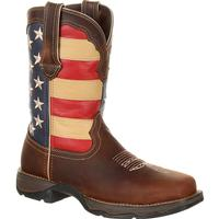 Lady Rebel by Durango Steel Toe Patriotic Flag Work Boot, , medium