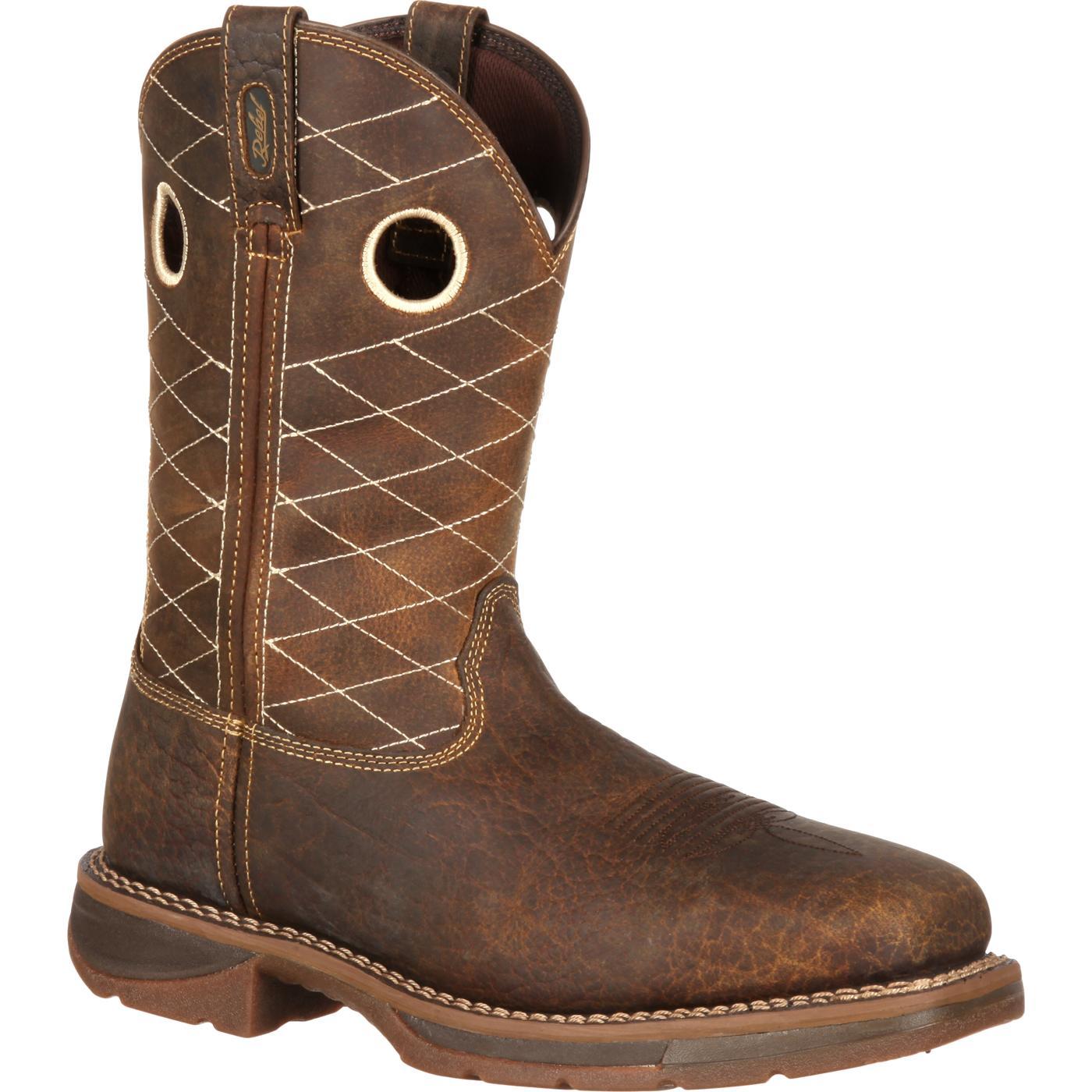 Workin' Rebel by Durango Brown Composite Toe, , large