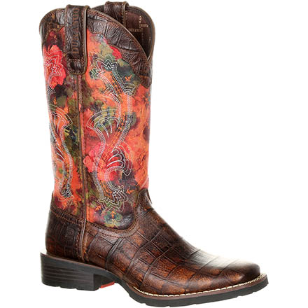Durango Mustang Women's Faux Exotic Western Pull-on Boot, , large