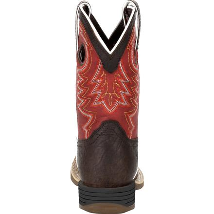 Durango® Lil' Rebel Pro™ Big Kid's Red Western Boot, , large