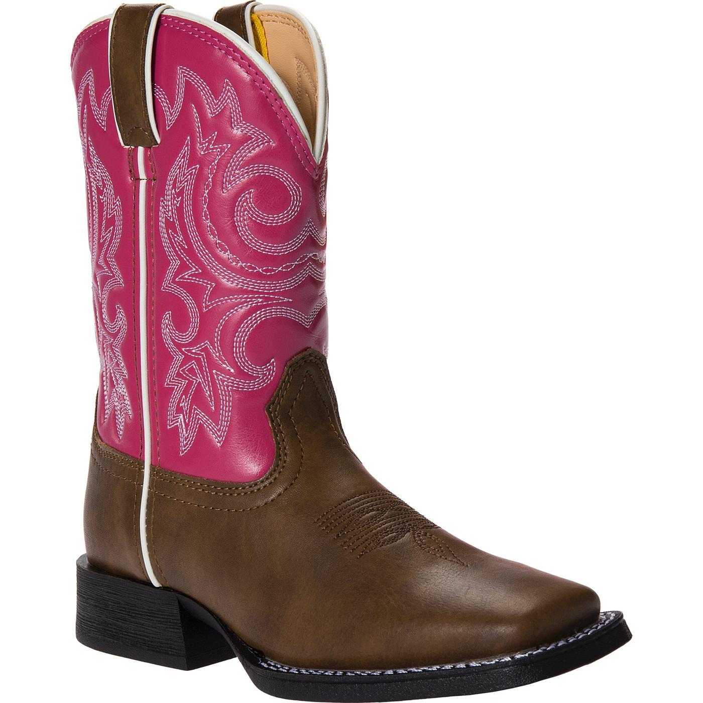 Lil' Durango Little Kid Pink and Brown Western Boot, BT217