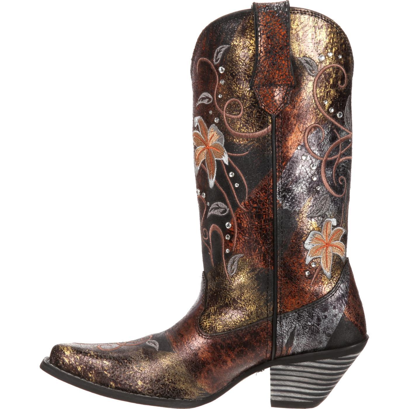 crush by durango s flower rhinestone western boot