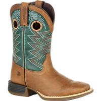 Durango Lil' Rebel Pro Big Kid's Teal Western Boot, , medium