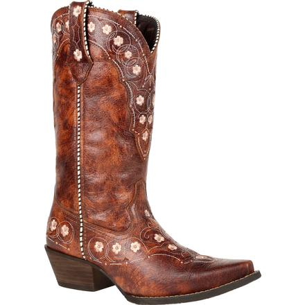 Crush™ by Durango® Women's Cognac Floral Western Boot
