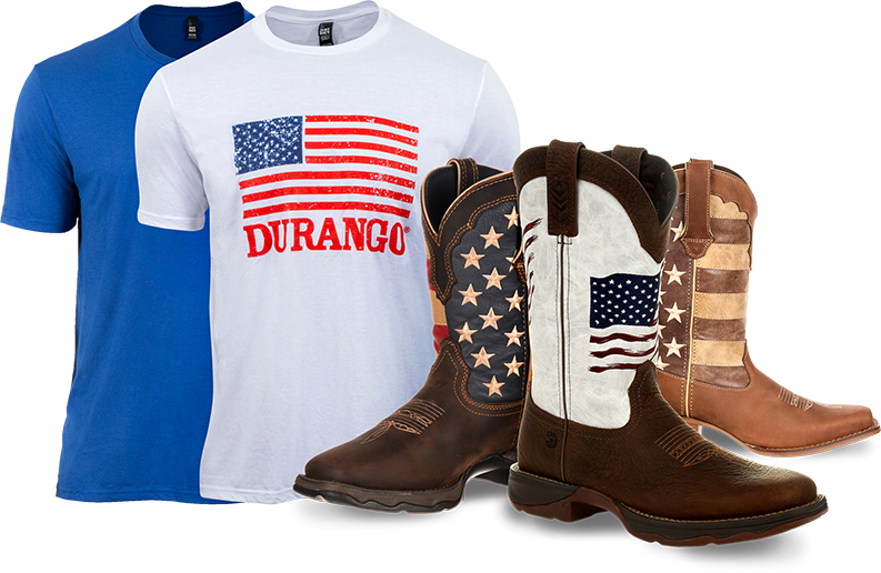 Patriotic themed items arranged in a attractive manner