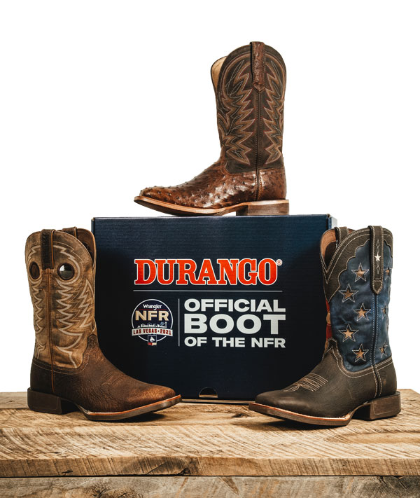 Durango® men's western boots are the official boot of the NFR